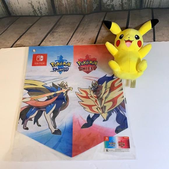 Pokémon Promo Wall Hanging & Pikachu Plush